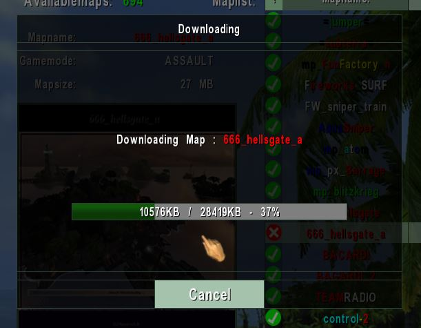map download panel